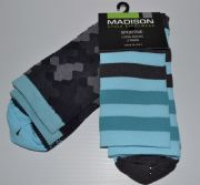MADISON SPORTIVE LONG SOCKS. TWIN PACK. CAMO/BLUE